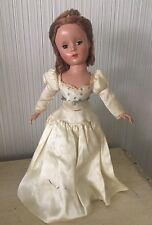 "VINTAGE MADAME ALEXANDER? Character DOLL With Dress 14"" Antique Bride"