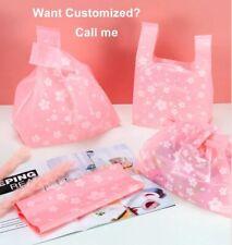 Sakura Fruit Design Plastic Gift Bags Shopping Handle Jewelry Packaging Displays