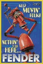 Robots Poster & Plastic Frame Yellow (36x24inches) #I5DP