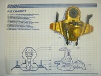 1986 GI Joe Cobra Serpentor's Air Chariot Vehicle w/ Blueprints *Complete