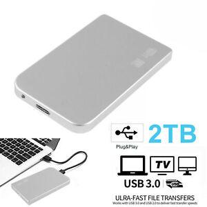 Disco duro externo portátil USB 3.0 2TB Ultra delgado para computadora portátil