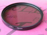 CPL 72mm Filter Ultra Violet For Canon Sony Nikon Pentax Camera Lens SLR DSLR