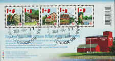 Canada 2010 Flag Over Mills Souvenir Sheet Used