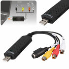 Easycap USB 2.0 TV Video Audio VHS to DVD HDD Converter Capture Card Adapter ON