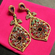 Boucles d`Oreilles Clou Goutte Fleur Multicolore Extravagant Original XX 4