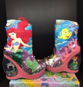 Irregular Choice Disney Just Me & The Sea SZ 41 Little Mermaid Pumps High Heel