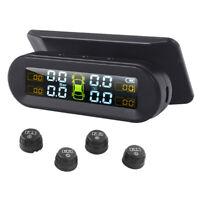 Car Universal Tire Pressure Monitor + 4 External Sensor Wireless Solar TPMS