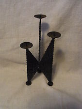 Mid Century 60´s Brutalist Iron Candle Holder #BP