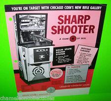 SHARP SHOOTER CHICAGO COIN 1971 ORIGINAL ARCADE GAME MACHINE GUN SALES FLYER
