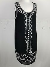 Principles Ben De Lisi Slip On Black Beaded Dress fully lined sleeveless Size 16