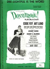 Dee-Lightful Is The Word Sheet Music Donnybrook Piano/V/Guitar/Chords-196 1-New