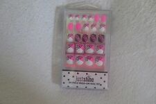 Justice Girl Press On Nail 24 Piece Set Animal Print Pink Black White New