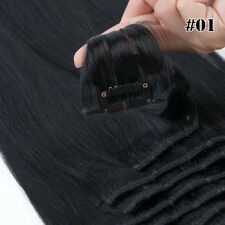 Clip In Real Remy Human Hair Extensions Full Head Brown Straight Black Blonde 20