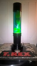 Lámpara de lava Mathmos Jet raro líquido azul con cera verde