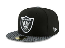 474d61ad66f New Era 59Fifty Hat Oakland Raiders NFL 2017 On Field Sideline Black Fitted  Cap