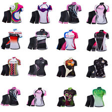 Women's Breathable Quick Drying Cycling Bicycle Jersey Set Short Sleeve