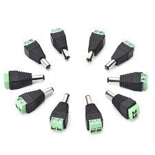 10pcs 5.5 mm x 2.5 mm CCTV Camera DC Power Jack mâle connecteurs S6#
