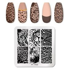 Nail Art Stamping Plates Line Stencil Stainless Steel Design Stickers for Print