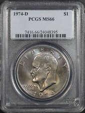 1974-D Eisenhower Ike Dollar PCGS MS-66 Nice Toning! -174734