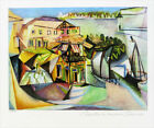 Pablo PICASSO Cafe At Royan Limited Giclee Estate Signed 13 x 20