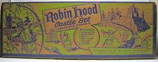 Vintage Marx Toy Robin Hood Castle Set #4719 In Original Box