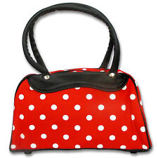 Sac à main rouge à pois Pin-Up Bowling Rockabilly Rock'n'Roll Vintage Retro 50's