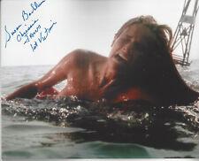 Jaws 1st Victim autographed 8x10 color swimming photo (Chrissie)