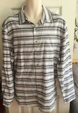 GAP Men's Gray & White Striped Button Down Shirt Classic Fit Size XL NWT