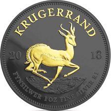 Südafrika 1 Rand 2018 Krügerrand Silbermünze Black Ruthenium Edition