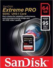 Sandisk 64 G SD SDXC Extreme Pro Scheda SDHC 64 GB 95MB/s V30 UHS U3 Class 10 4K UK