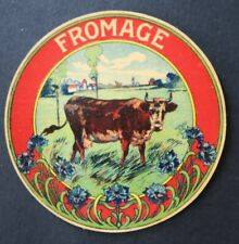 Etiquette fromage  FROMAGE  french cheese label 23