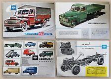Publicité prospectus brochure HANOMAG HANNOVER 1 3/4 t DIESEL CAMIONS pour 1950 xz