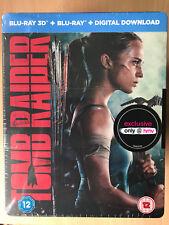 Alicia Vikander Tomb Raider 2018 Action Film Ltd Ed 2D + 3D UK Blu-ray Steelbook