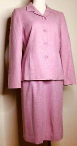 Pendleton 100% virgin Wool skirt blazer 2 piece suit bubblegum pink size 6