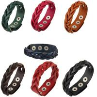 Unisex Mode PU Leder Punk Manschette Geflochtene Gurtband Armband Armband