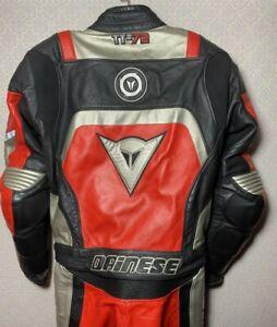 Dainese Tt 72 Leather 2 Piece Suit Sz 48 Super Sport Motorcycle Pants jacket