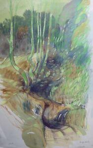 PAMELA GUILLE ARCA - The sunlit path at Burgh Heath