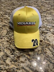 Ed Carpenter Racing Indycar Stretch Fit Hat Indy 500 Vision Racing Menards NWOT
