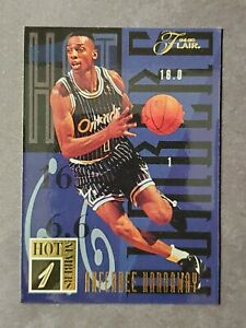 1994 Flair Hot Numbers Anfernee Penny Hardaway SP Rookie RC Insert #4/20
