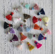 40ps Tiny Cotton Tassels,Small Tassels,Handmade Boho Jewelry Tassels Pendant Mix