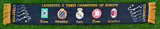 LIVERPOOL SCARF 5 TIMES CHAMPIONS OF EUROPE BLACK