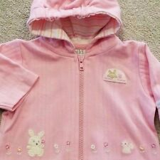 DARLING! CHILD OF MINE CARTER'S PREEMIE PINK FOREST FRIENDS HOODED JACKET