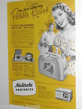 1948 Motorola advertisement, MOTOROLA radio, TV, Portable Radios, AC DC