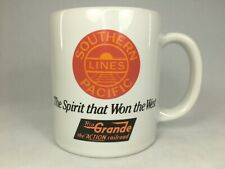 """Southern Pacific Lines Coffee Cup Mug """"The Spirit that Won the West"""" Railroad"""