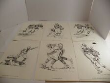 6 Nick Galloway MIAMI DOLPHINS FOOTBALL PLAYERS SKETCHES  1981 Shell Oil Promo