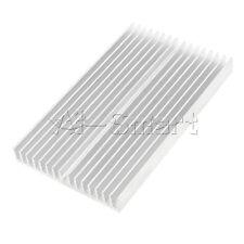 Silver Heat sink 100X60X10mm IC Heatsink Aluminum Cooling Fin For CPU LED Power