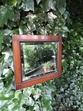 Small Mahogany Mirror Small Beveled Mirror Antique Mirror Beveled Mirror