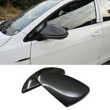 ABS Black Carbon fiber Style Mirror Cover Trim for VW Golf Mk7 2012 - 2018 2Pcs