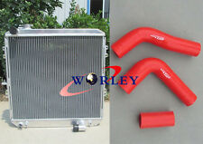 62mm Aluminum Radiator for toyota HILUX LN106 LN111 Diesel 88-97 + Silicone Hose