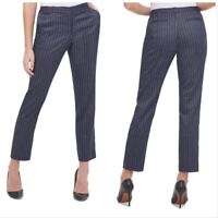 "Tommy Hilfiger Navy Pinstripe Career Pants Women's 29"" Waist Size 0"